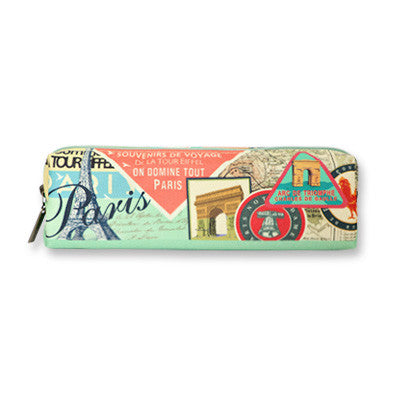 Pencil Case Paris - Label Pattern - VY5013