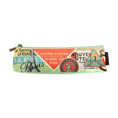 Pencil Case Paris - Label Pattern - Slim - VY5051
