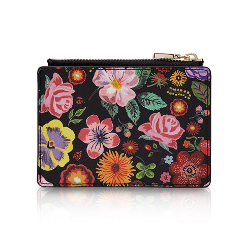 Mirror Card Wallet Nathalie Lété - Flower Black - NL3439