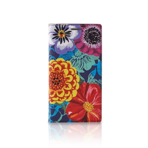 Mobile Leather Wallet Case Nathalie Lete - Galaxy S6  - Flower Karma - NL3330