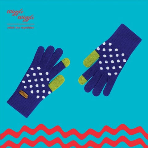 Smartphone / Tablet Touch Gloves - SG-001 Dancing dot - Blue