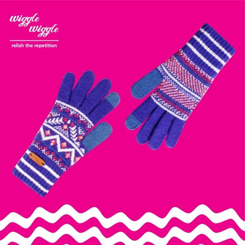 Smartphone / Tablet Touch Gloves - SG-013 Bohemian - Cobalt Blue