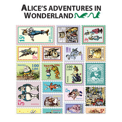 Stamp Sticker Set V.4 - Alice In Wonderland  - B Type 02 - AL4351