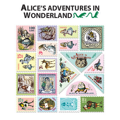 Stamp Sticker Set V.4 - Alice In Wonderland  - B Type 01 - AL4597