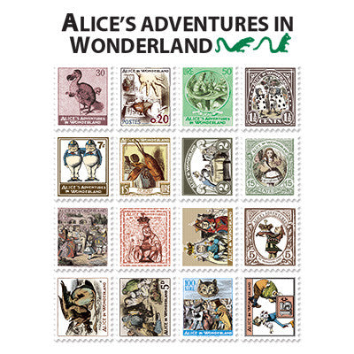 Stamp Sticker Set V.4 - Alice In Wonderland  - A Type 01 - AL4368