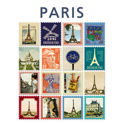 Stamp Sticker Set V.4 - Paris  - A Type 01 - VY4320
