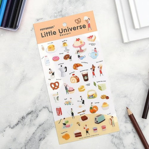 Little Universe Sticker Pony Brown - Dessert