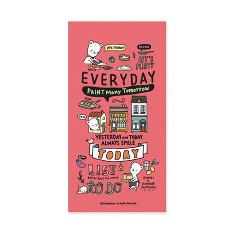 Diary Planner Buhabear Everyday Diary Pony Brown - Roes Pink