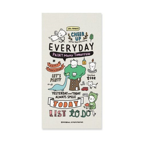 Diary Planner Buhabear Everyday Diary Pony Brown - Cream