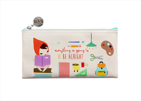 Pencil Pouch Midium Pony Brown - Mariffe Ivory