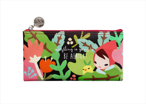 Pencil Pouch Midium Pony Brown - Mariffe Tropical
