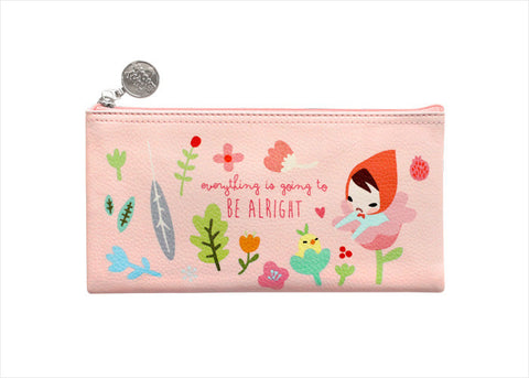 Pencil Pouch Midium Pony Brown - Mariffe Babypink