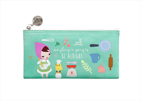 Pencil Pouch Midium Pony Brown - Mariffe Mint