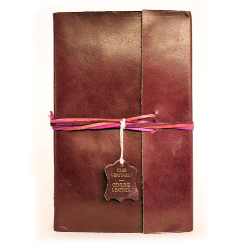 Notebook leather handmade - Adventure - Brown
