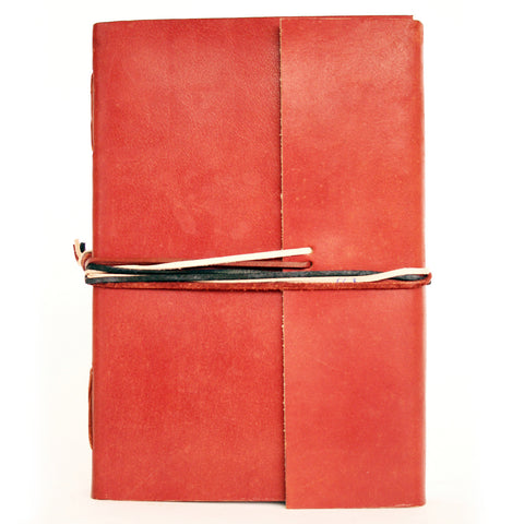 Notebook leather handmade - Adventure - Camel