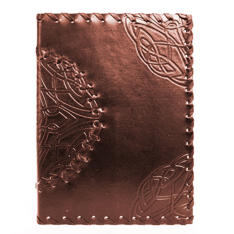 Handmade Leather Notebook - Medallion - Brown