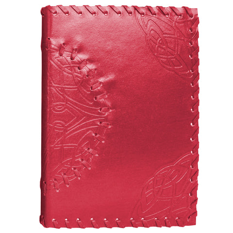 Handmade Leather Notebook - Medallion - Red