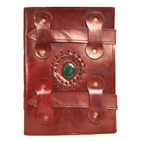 Handmade Leather Notebook - Rakam stone - 15x20cm