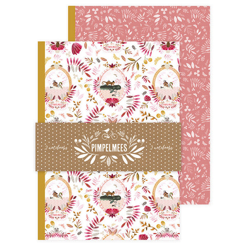 Notebooks Medium Pimpelmees - Set 2