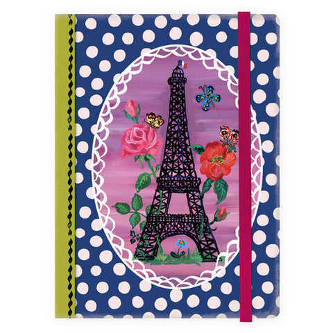 Agenda Nathalie Lété Fabric cover - Eiffel In The Beans - NL3785