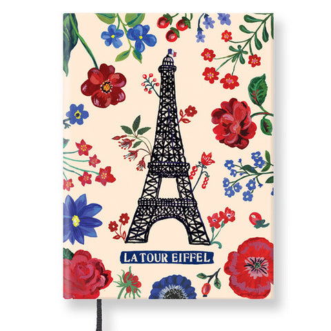 Hardcover Notebook - Nathalie Lété - Vintage Galore - Line Note - Eiffel Tower - NL9707
