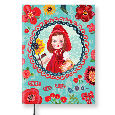 Hardcover Notebook - Nathalie Lété - Vintage Galore - Line Note - Red cape girl - NL9714