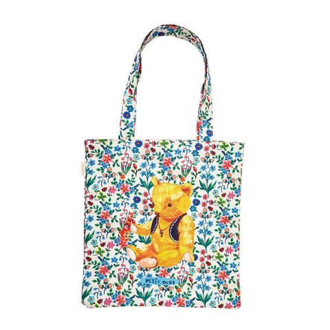 Eco Bag Nathalie Lété - Bear in Flowers - NL9844
