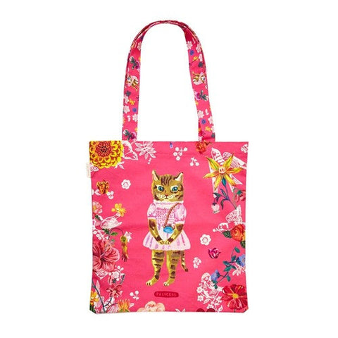 Eco Bag Nathalie Lété - Cat in Pink - NL9851