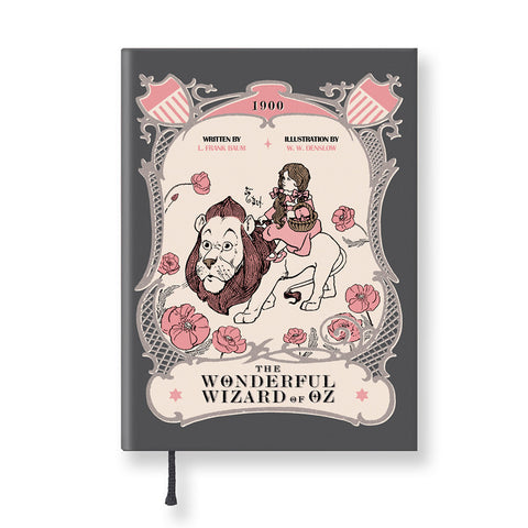 Hardcover Notebook - The Wizard of Oz - Vintage Galore - Agenda Ver.2 - Dorothy & Lion - OZ2528