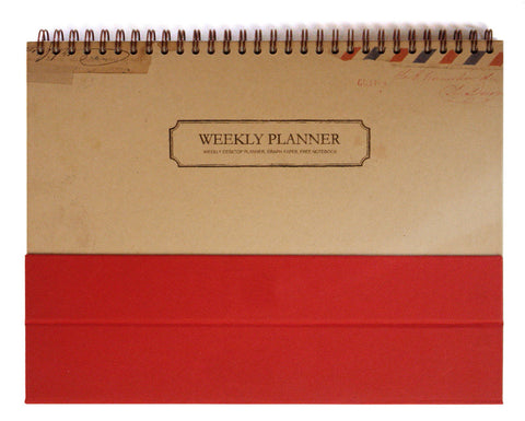 Weekly Desk Scheduler Vintage - Red - VY0008