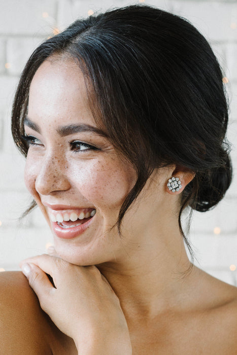 Crystal stud bride and bridesmaids earrings | Sara Gabriel