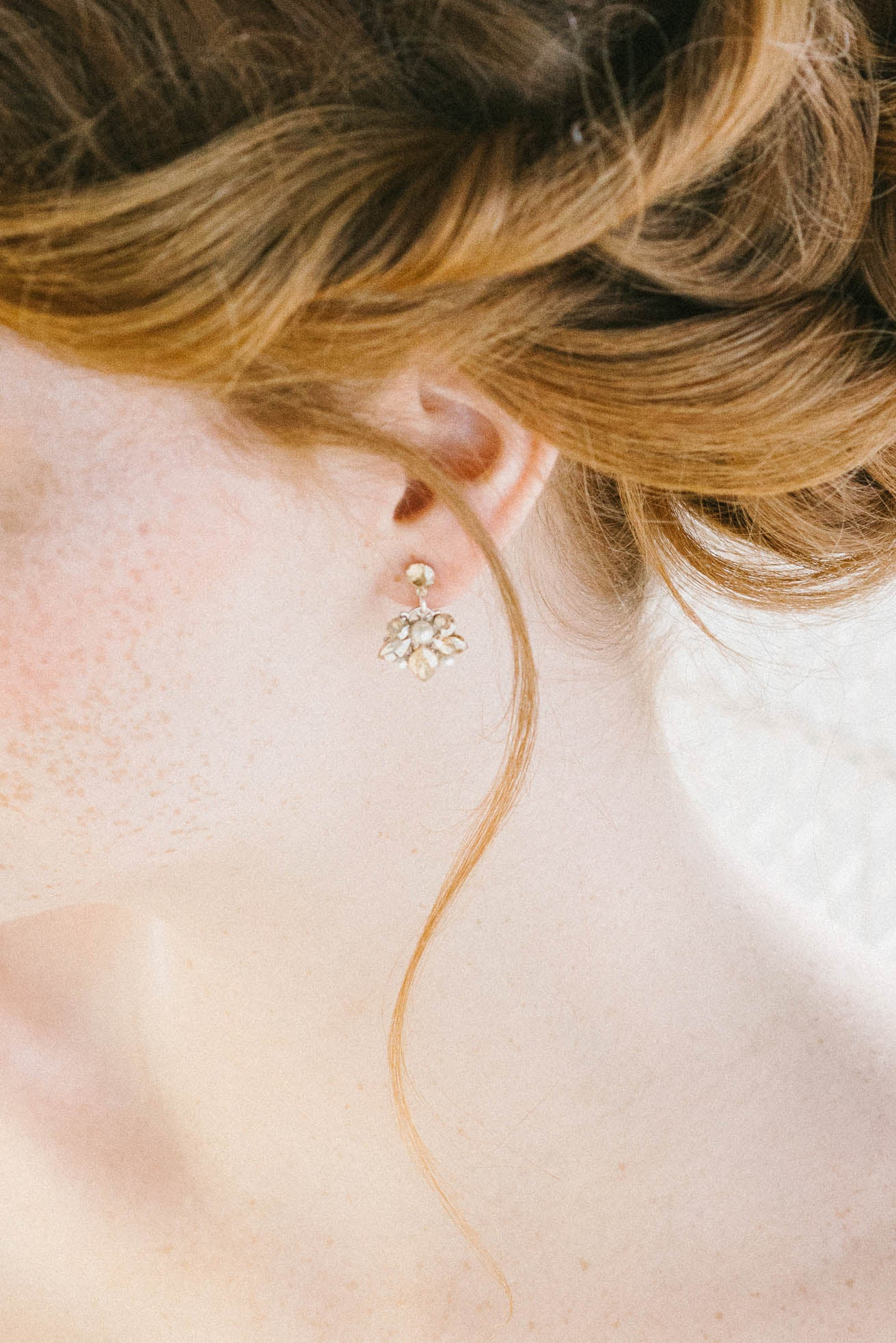 Delicate floral crystal bridal earrings | Sara Gabriel