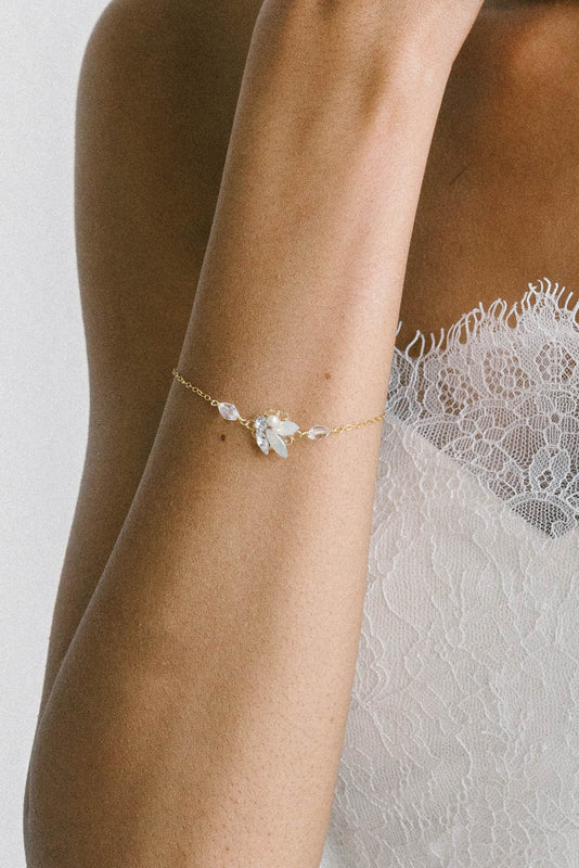 Dainty bridal bracelet collection from Sara Gabriel