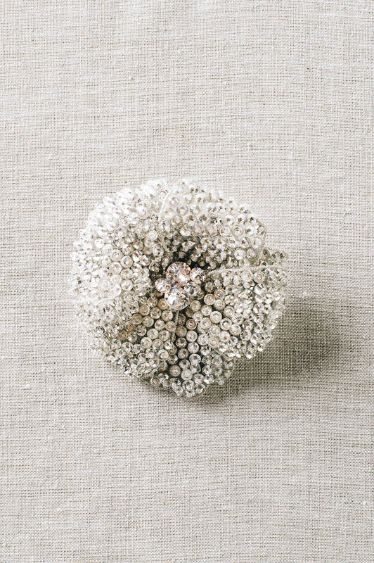 Crystal flower bridal hair clip