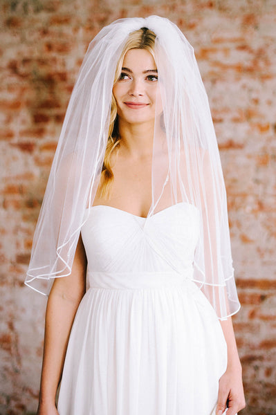 Darling soutache trim bridal veil