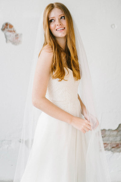 Ultra soft lace flower bridal veil