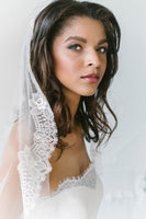 French Chantilly lace veil | Sara Gabriel