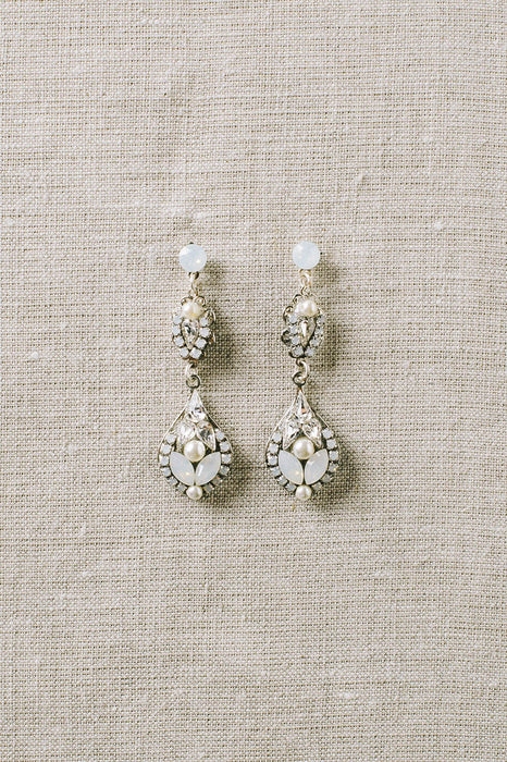 Classic opal drop earrings | Sara Gabriel