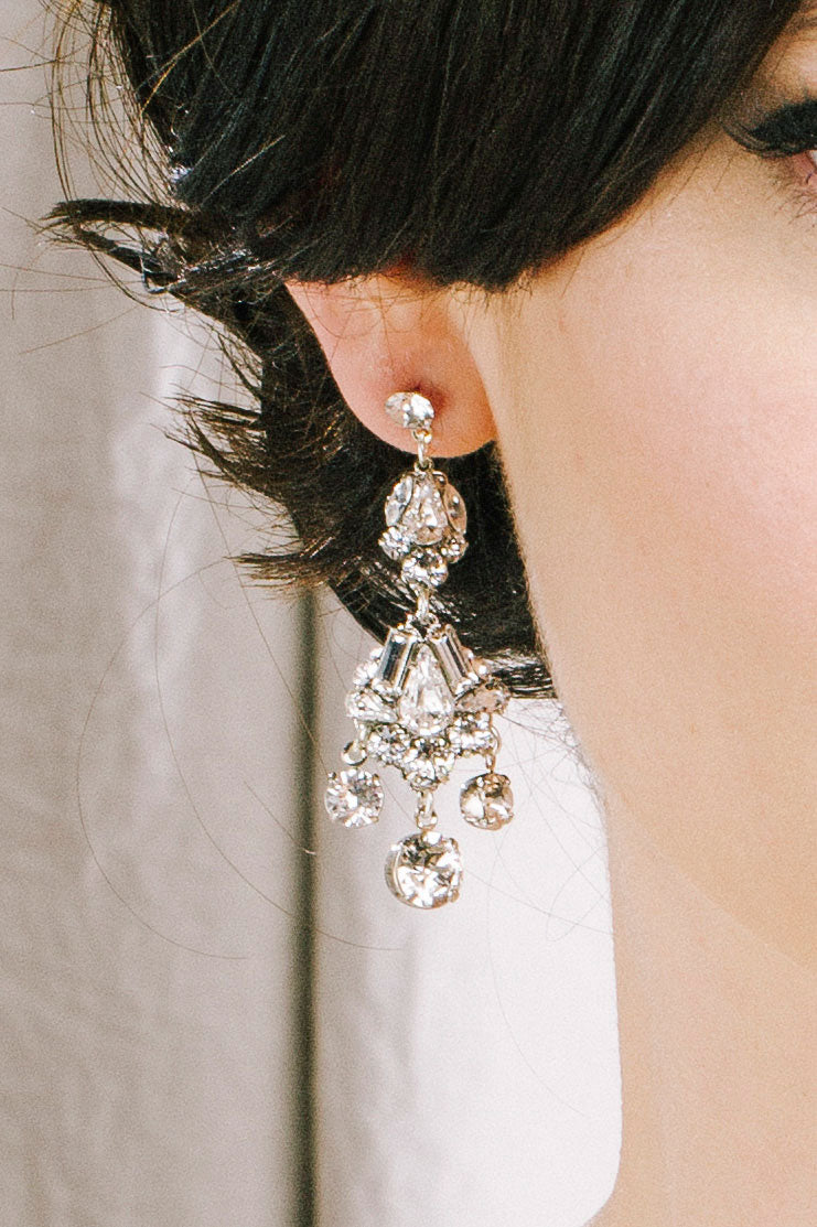 Vintage inspired crystal chandelier earrings | Sara Gabriel