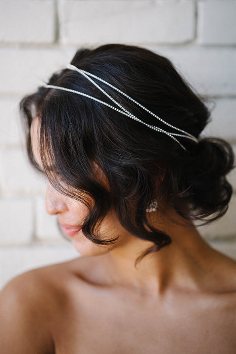 Crystal hair wrap | Sara Gabriel bridal accessories
