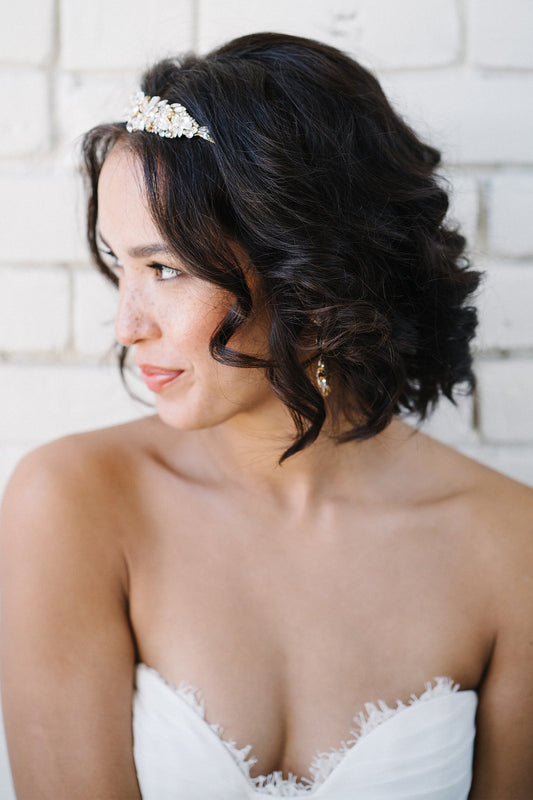 Veronica Tiara with Swarovski Crystals and Pearls | Sara Gabriel