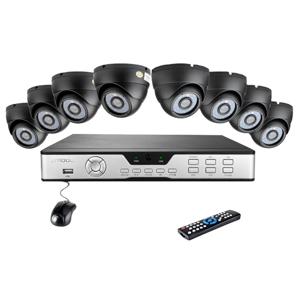 8CH H.264 Video Surveillance System & 8 600TVL Sony CCD