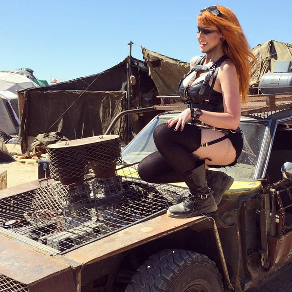 Sexy post-apocalyptic cosplay Wasteland Weekend Mad Max costume Mad Duo Co
