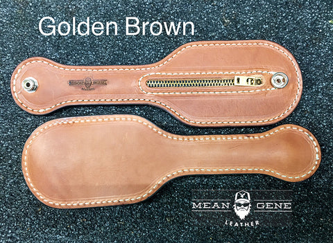 "GOLDEN BROWN leather color MGL Mean Gene Leather Hot Tamale coin purse ""slapjack"" sap."
