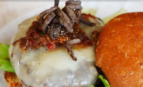 Tarantula burgers should always be served with chili.