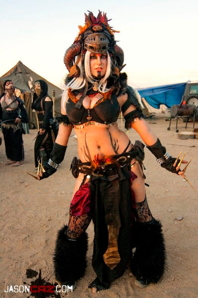 Wasteland Weekend post apocalyptic woman sexy dystopian cosplay