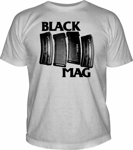 Black Mag t-shirt from MadDuoCo and Breach-Bang-Gear