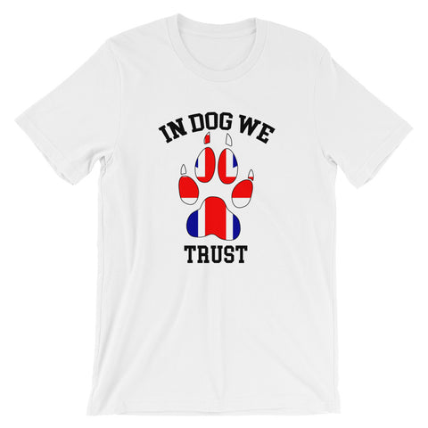 In Dog We Trust v2 Tee - the Brit Version