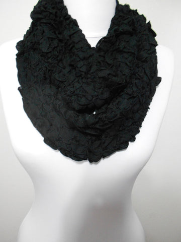 Black Infinity Scarf Winter Loop Neck Warmer Christmas  SCARFCLUB