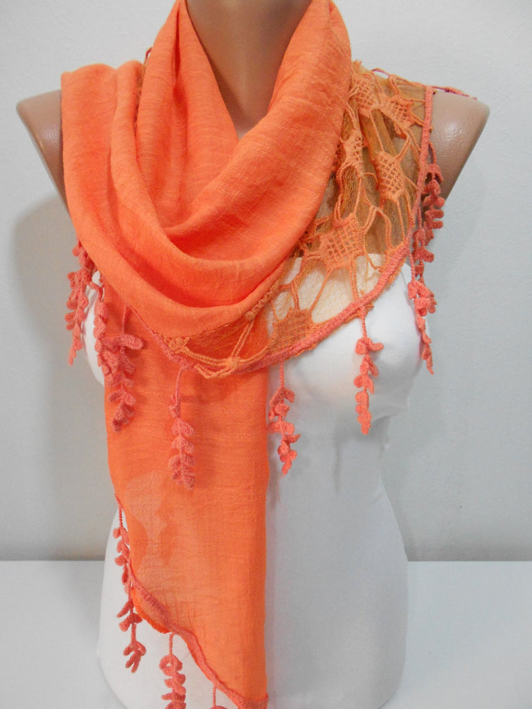 Orange Scarf Shawl Halloween 4 Seasons Fashion Scarf  SCARFCLUB